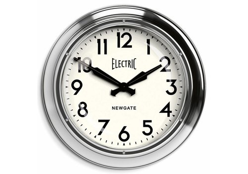 Newgate Grote wandklok 'Giant Electric' Chrome