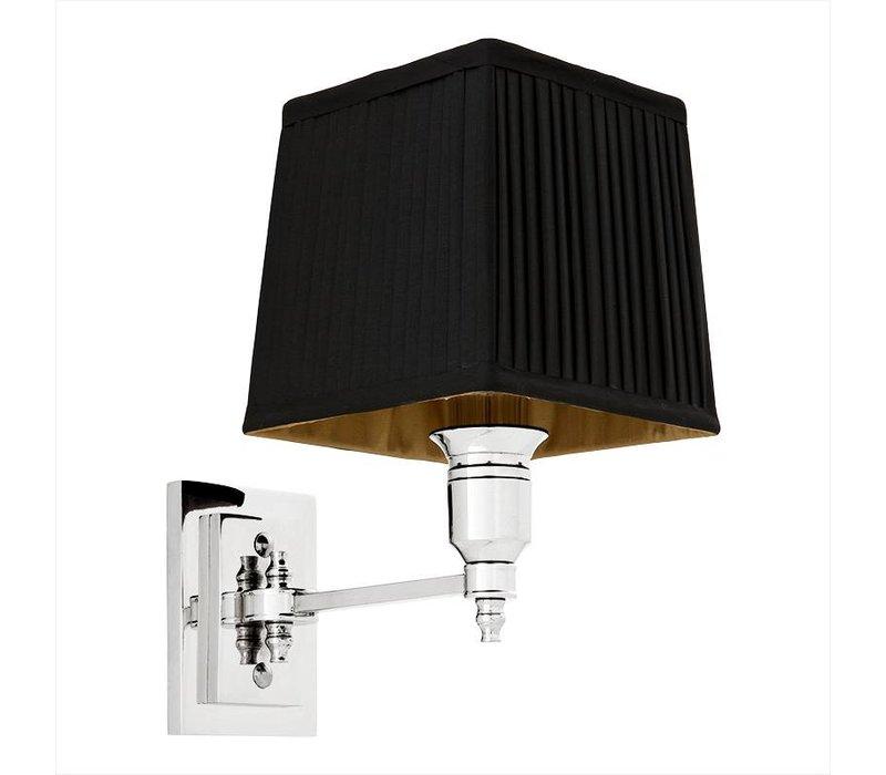 'Lexington'Wall Lamp Single Black/Nickel