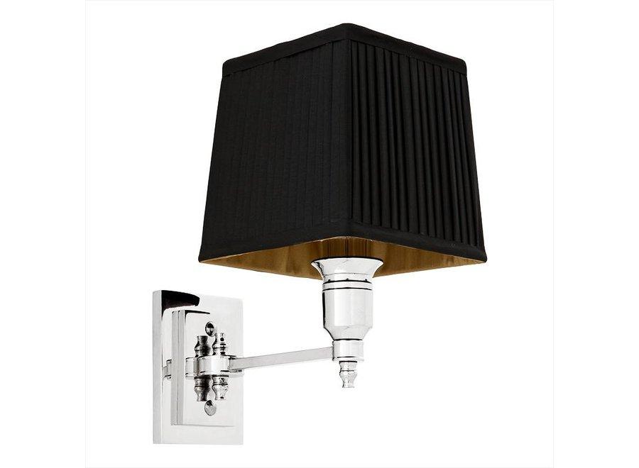 Wandlamp 'Lexington' Single Black/Nickel