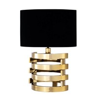 Table lamp 'Boxter' with black oval shaped shade - S