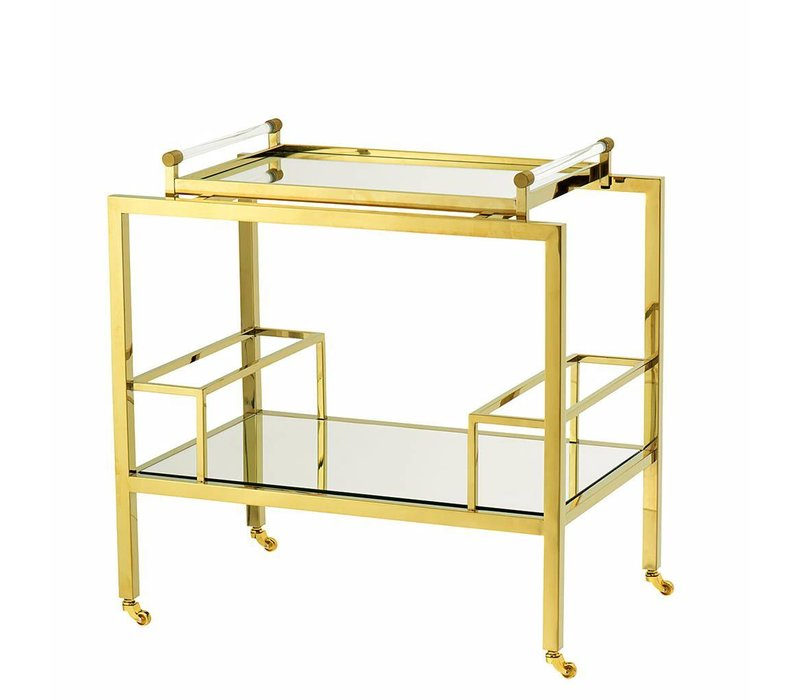 """Servierwagen """"Majestic"""" in Gold, 72 x 47 x 72 cm"""