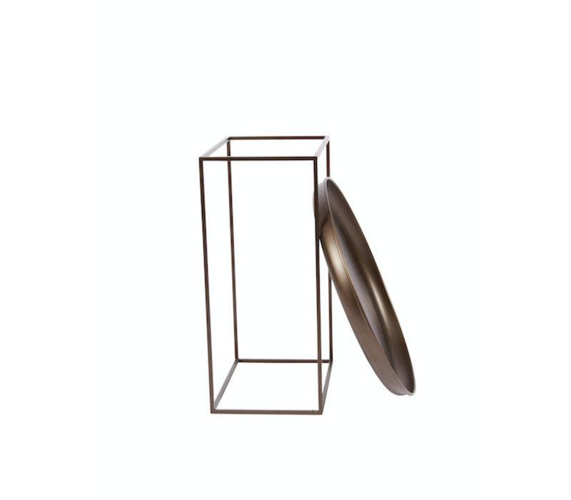 Bijzettafel 'Duke Small' diameter 45cm in de kleur Bronze
