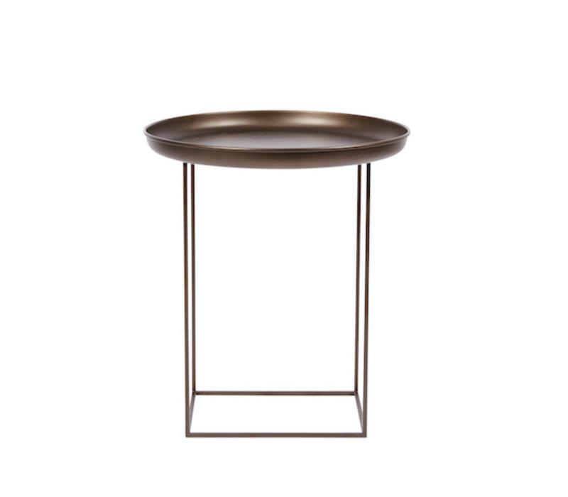 """Beistelltisch """"Duke Small"""" in Bronze mit einem Durchmesser von 45 cm."""