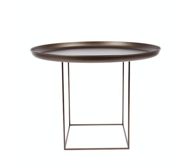"""Beistelltisch """"Duke Medium"""" in der Farbe Bronze mit einem Durchmesser von 70 cm."""