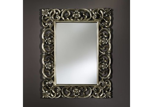 Deknudt Classical Mirror in silver 'Baroque'
