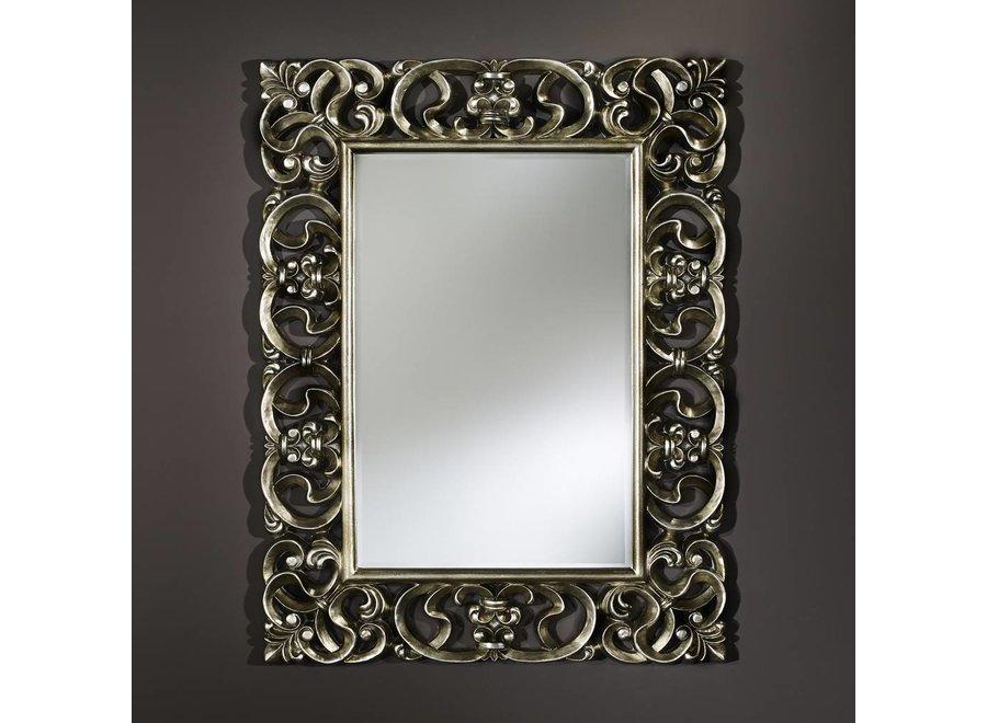 klassieke spiegel - zilver 'Baroque'