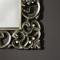 Classical Mirror 'Baroque' 101 x 130 cm in silver