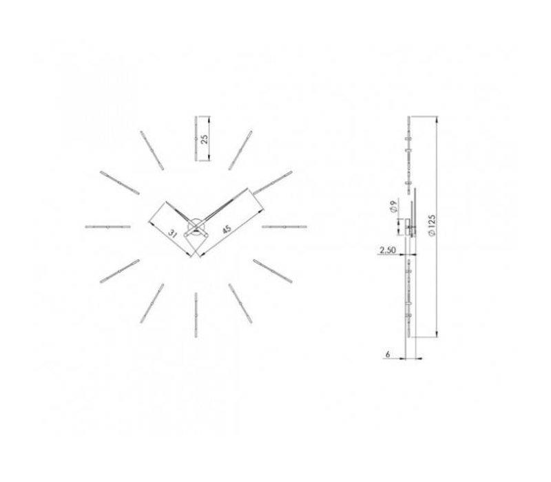 """Wanduhr XXL """"Merlín"""" im minimalistischen Design"""