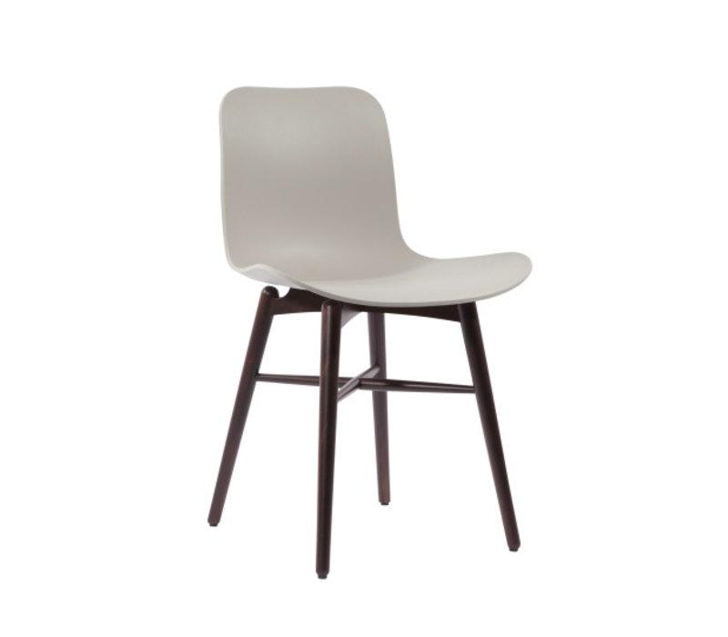 """Design-Stuhl """"Langue Original Dark Stained"""" in der Farbe Flint Grey"""