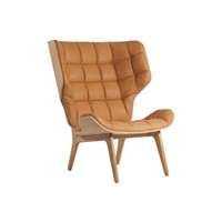 Mammoth lounge chair met vintage leather
