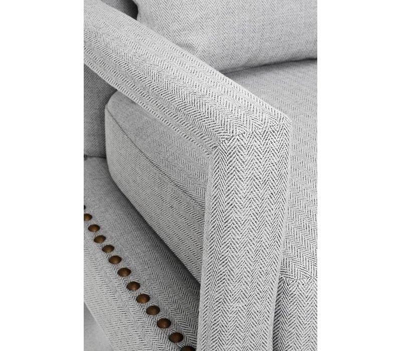 Armchair Gregory in grey
