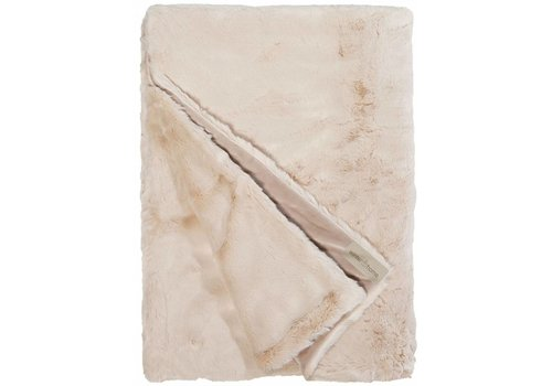 Winter-Home Faux fur plaid 'Seal Sand Supersoft