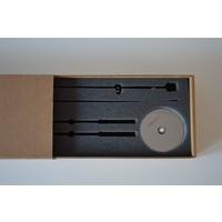 Design Uhr nur mit Holzzeigern, Axioma 74 cm