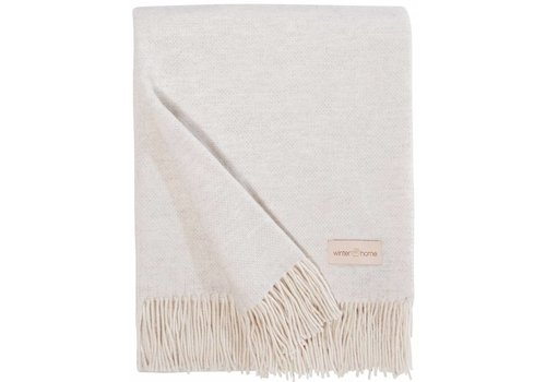 Winter-Home Cashmere plaid 'Grace' Ivory