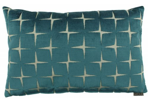 CLAUDI Chique Cushion Isidora Petrol