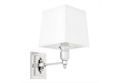 EICHHOLTZ Wandlamp Lexington Single - White/ Nickel