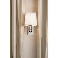 Wandlampe 'Lexington' Single White/Nickel
