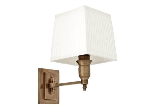 EICHHOLTZ Wandlamp Lexington Single - White / Brass