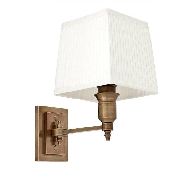 Wandlampe 'Lexington' Single White/ Brass