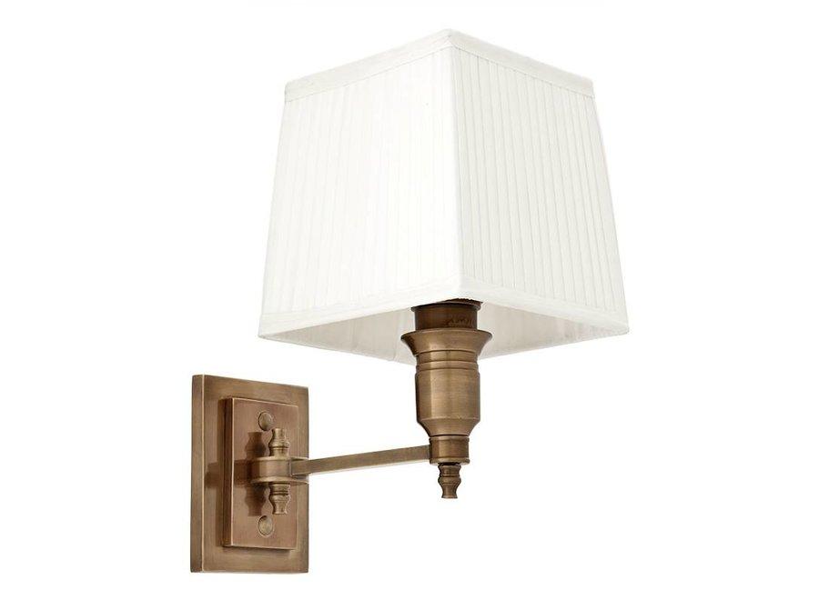 Wandlamp Lexington Single - White / Brass