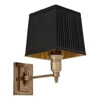 Wandlampe 'Lexington' Single Black/ Brass