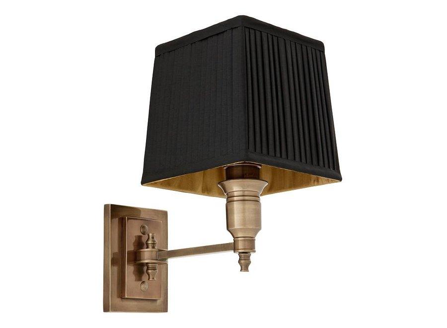 Wandlamp Lexington Single - Black/Brass