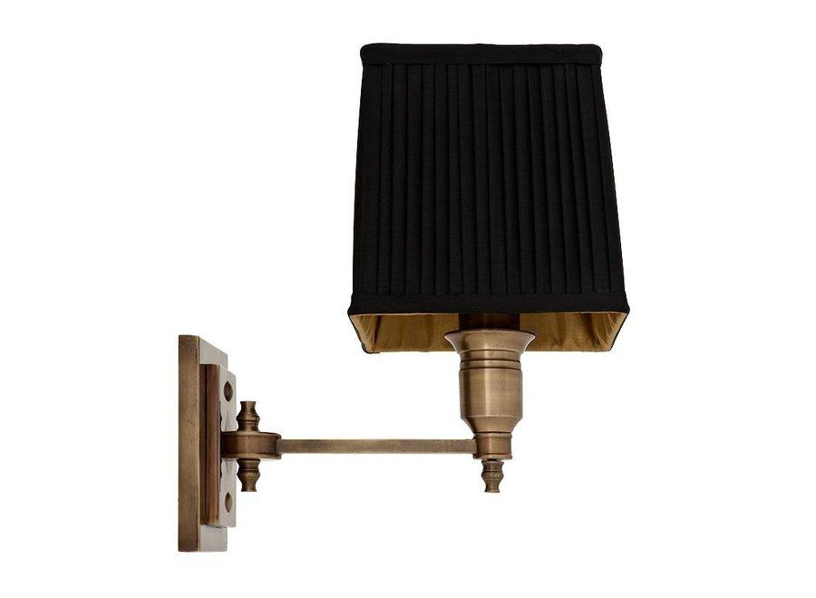 Wandlamp 'Lexington' Single Black/ Brass