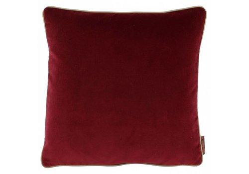 CLAUDI Design Zierkissen Saffi Dark Red