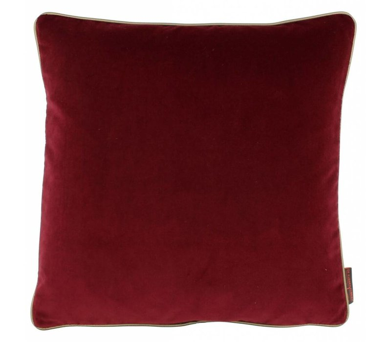 Cushion Saffi Dark Red with Gold piping