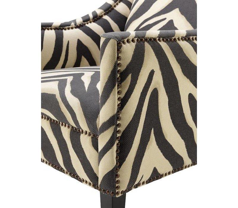 Sessel 'Jenner' - Zebra Print