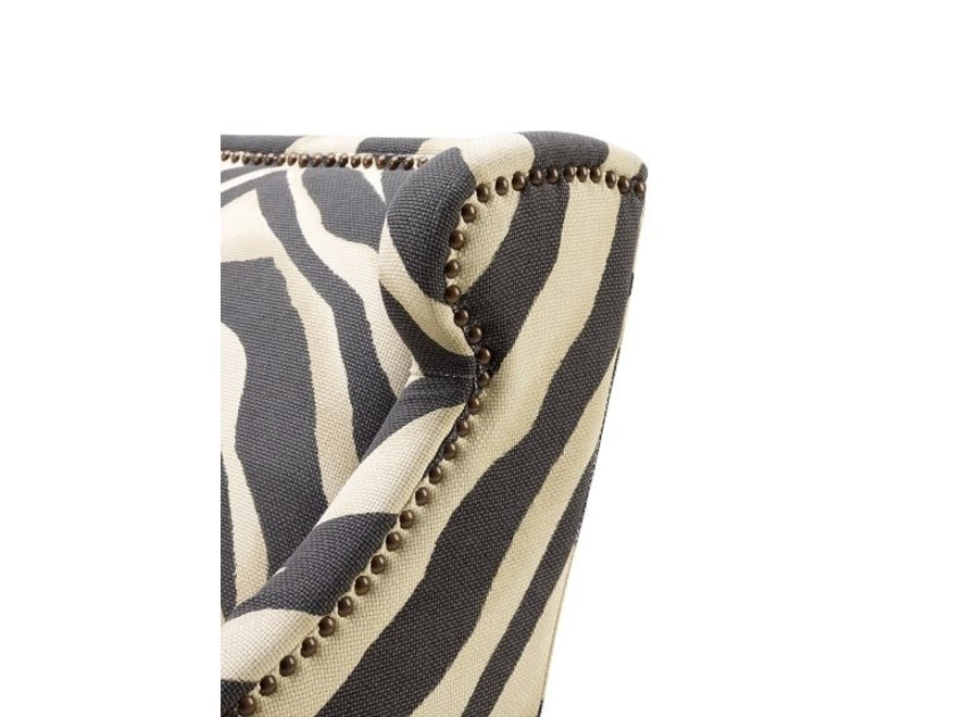 Fauteuil 'Jenner' - Zebra Print