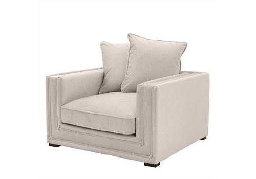 EICHHOLTZ Stone Grey Armchair 'Menorca'