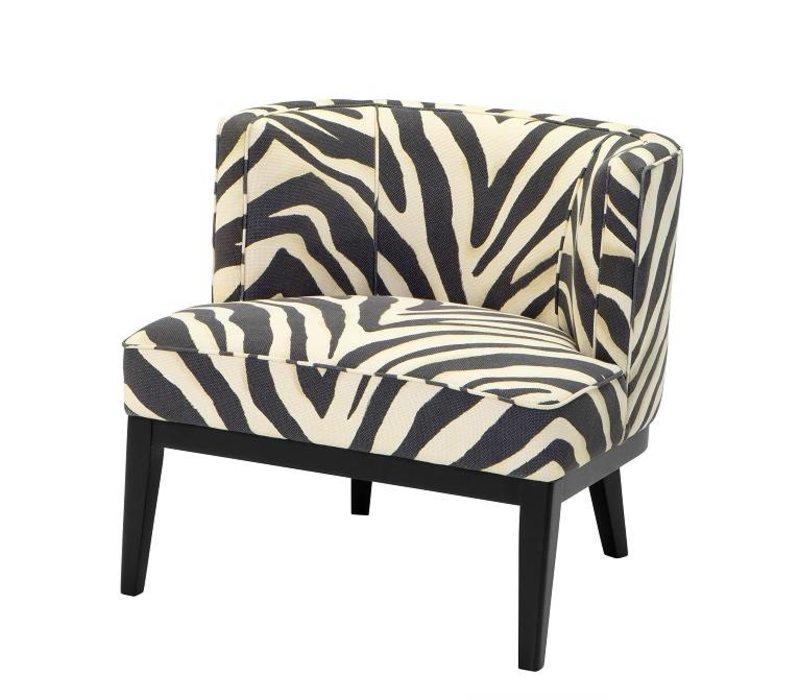 Bureaustoel Met Zebraprint.Eichholtz Fauteuil Baldessari Zebra Print