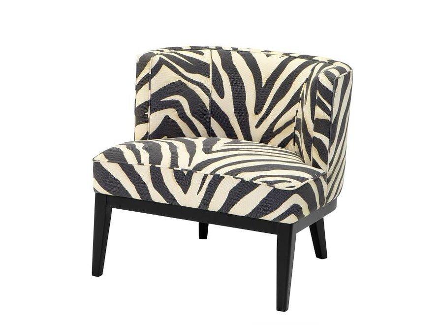 Fauteuil 'Baldessari' Zebra Print