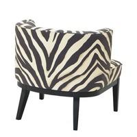 Armchair 'Baldessari' Zebra Print
