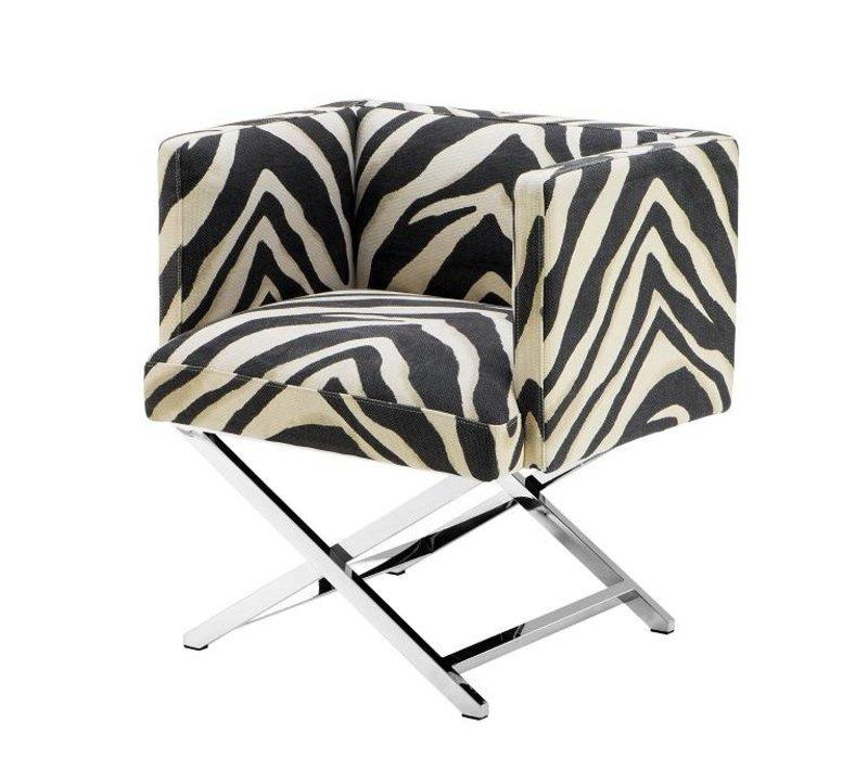 Bureaustoel Met Zebraprint.Eichholtz Fauteuil Dawson Zebra Print