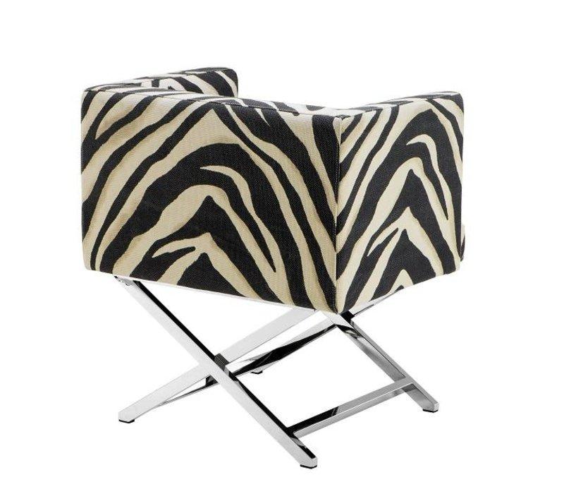Chair 'Dawson' Zebra Print