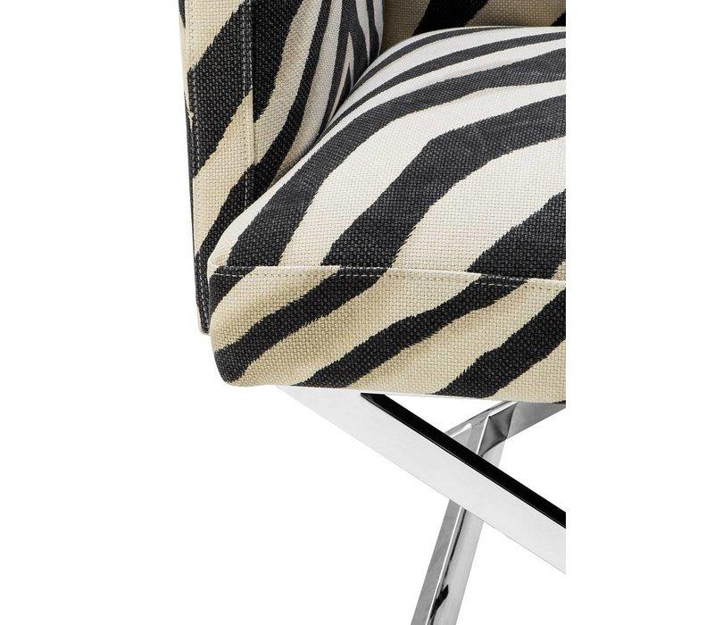 Fauteuil 'Dawson' Zebra Print