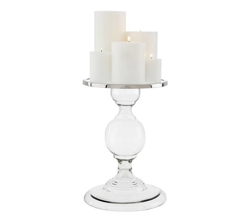 'Providence S' polished candlestick