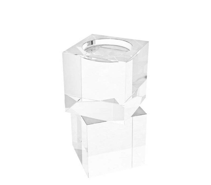 'Wyndham S/2' crystal glass candlesticks