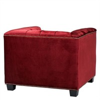 Fauteuil 'Paolo' Essex Red