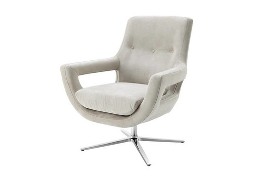 EICHHOLTZ Swivel Fauteuil 'Flavio' Pebble Grey