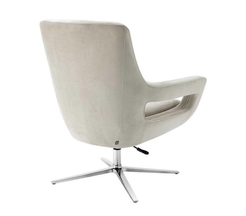 Swivel Fauteuil 'Flavio' Pebble Grey