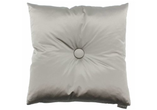 CLAUDI throw pillow Dafne Taupe XL button
