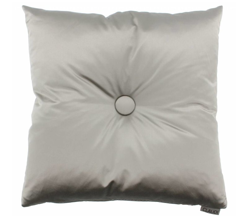 Throw pillow Dafne color Taupe with XL button