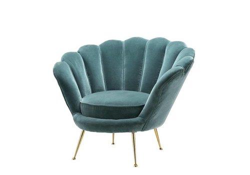 EICHHOLTZ Fauteuil 'Trapezium' Cameron Deep Turquoise