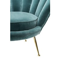 Chair 'Trapezium' Cameron Deep Turquoise