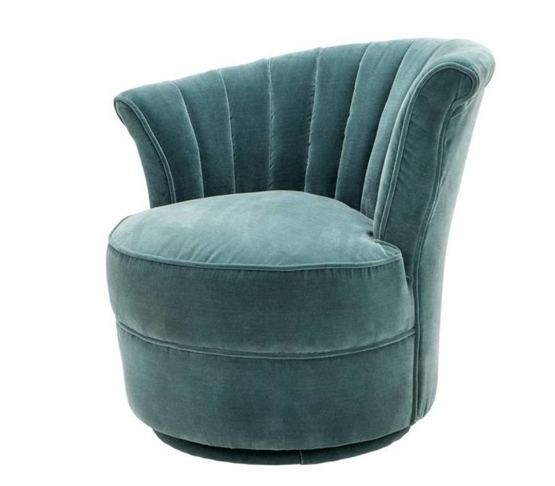 Chair 'Areo Left' Cameron Deep Turquoise