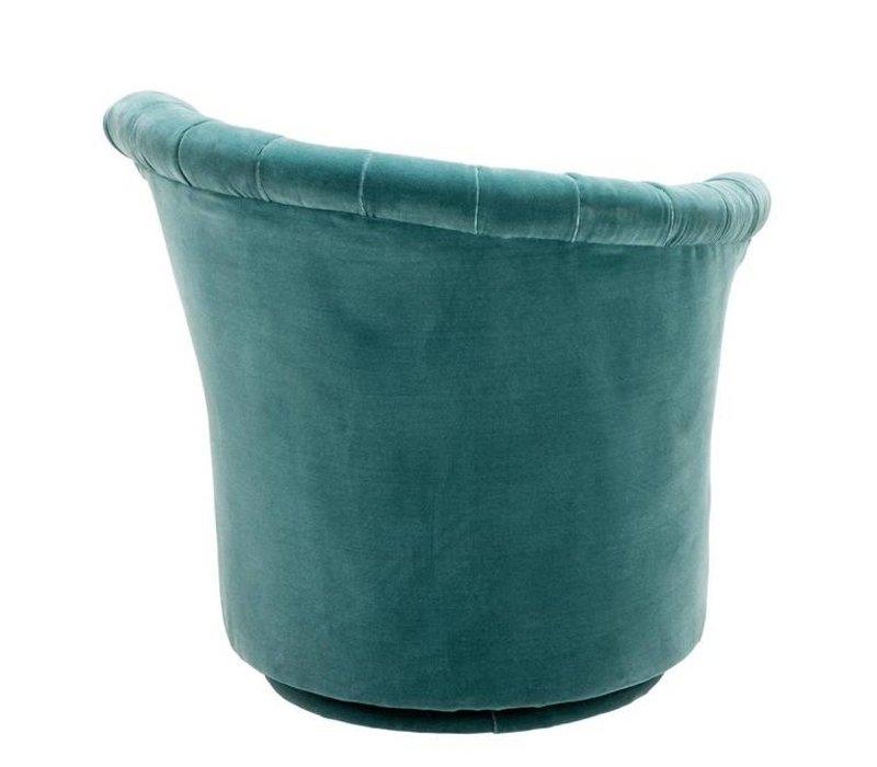 Fauteuil 'Aero Left' Cameron Deep Turquoise