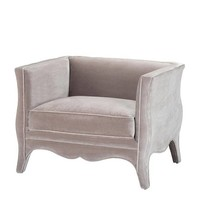 Chair 'Bouton' Bague Grey Velvet